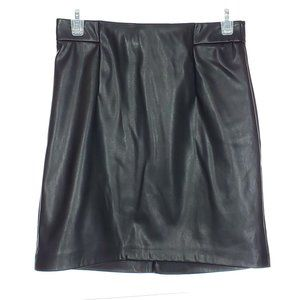DYNAMITE Faux Leather Mini Skirt High Waist Black